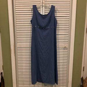 Vtg 90s UO blue maxi dress